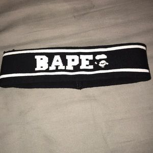 BAPE Black Headband A Bathing Ape HYPEBEAST